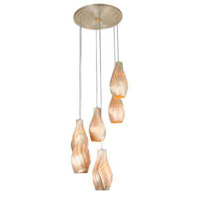 Varaluz Sarong Six Light Cluster Chandelier