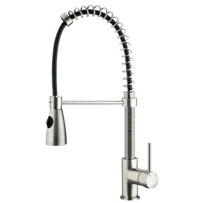 Vigo Modern One Handle Single Hole Pull Out Spiral Bar Faucet