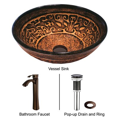 Vigo Greek Bathroom Sink with Faucet