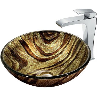 Vigo Zebra Vessel Sink with Faucet