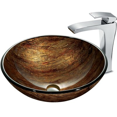 Sunset Bathroom Sink with Faucet - VGT182