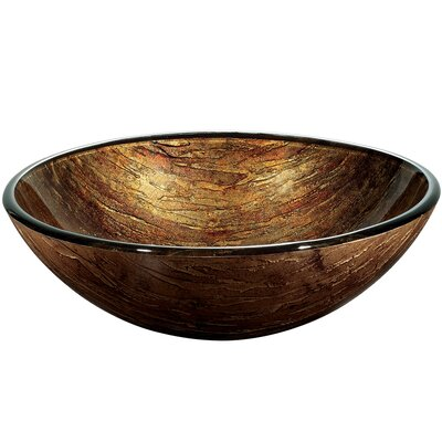 Vigo Amber Sunset Glass Vessel Sink
