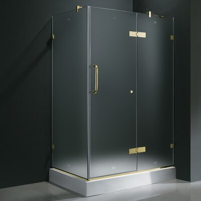 "Vigo 24"" Pivot Door Swing Frameless Shower Enclosure with Base"