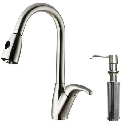 Vigo One Handle Single Hole Kitchen Faucet With Soap Dispenser And Spray Reviews Wayfair