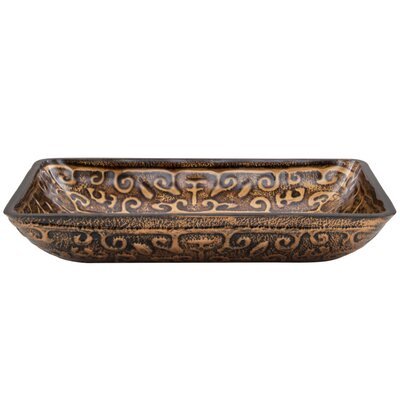 Vigo Golden Greek Glass Vessel Sink
