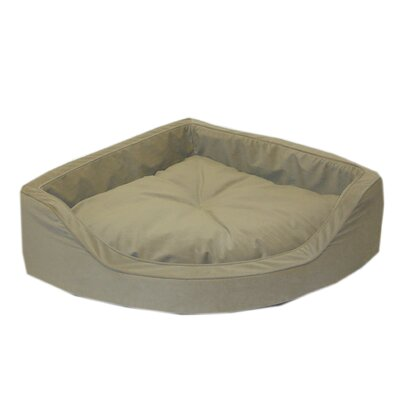 Everest Pet Microfiber Corner Pet Bed in Sage