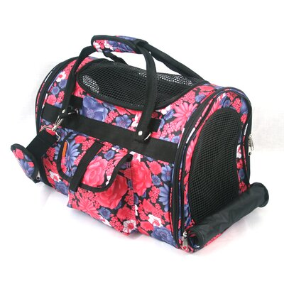 Prefer Pets Covered Pet Carrier in Vintage Flower