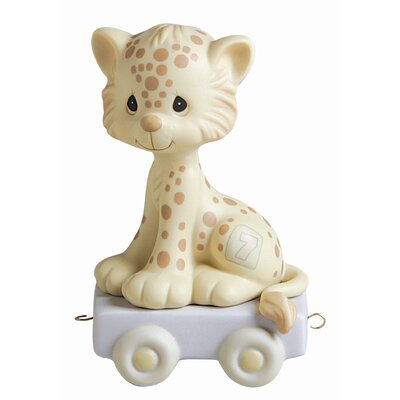 "Precious Moments ""Birthday Train Wishing You Grr-Eatness"" Leopard Figurine"