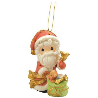 "Precious Moments ""May Your Christmas Ring with Joy"" Annual Santa Ornament"