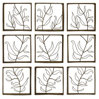 IMAX Vine Wall Decor Panel (Set of 9)