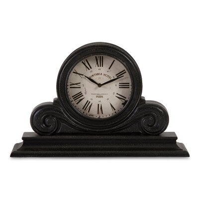Wood Mantle Clock in Black