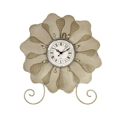IMAX Utopia Flower Table Clock with Shell