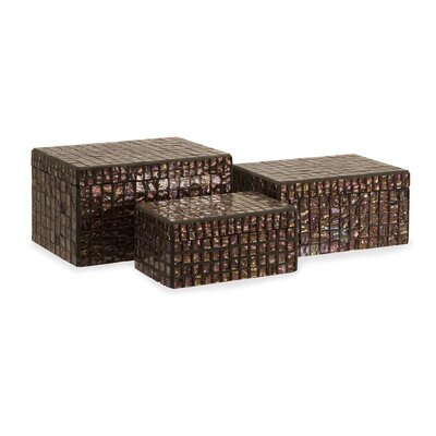 Orchid Mosaic Boxes (Set of 3)