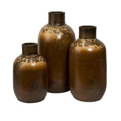 IMAX Ortega Terracotta Vases (Set of 3)