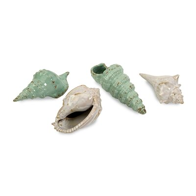 IMAX Ceramic Sea Shells Statue (Set of 4)