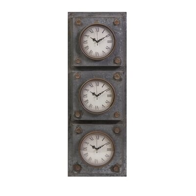 IMAX Gilbert Galvanized Triple Clock