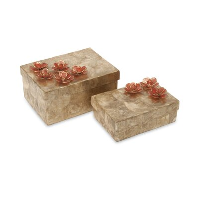 Glimmer Capiz Shell Flower Box (Set of 2)
