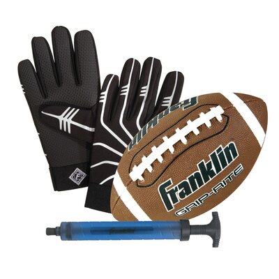 Franklin Sports Junior Grip-Rite Ball and Receivers Glove Set