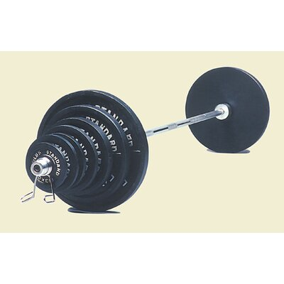 USA Sports by Troy Barbell 300 lbs Olympic Weight Set in Black