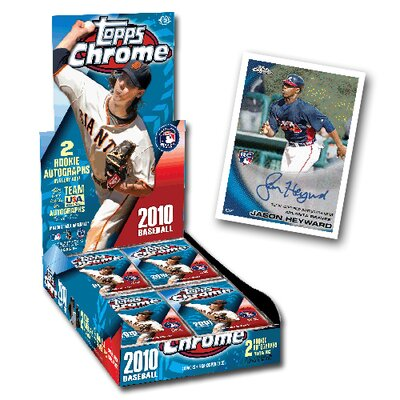 MLB 2010 Chrome Hobby Trading Cards (24 Packs)