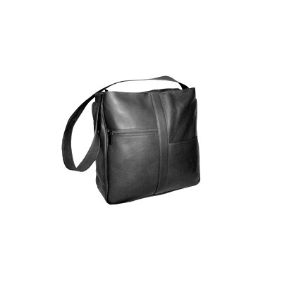 Double Top Zip Shoulder Bag