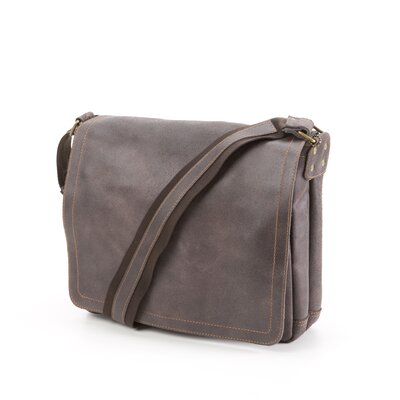 David King North South Laptop Messenger in Distressed Leather