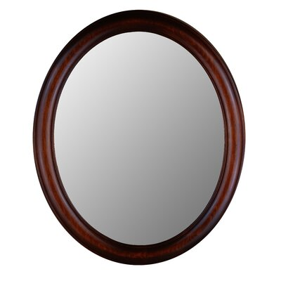 Hitchcock Butterfield Company Premier Series Oval Mirror in Mahogany