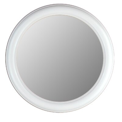 Hitchcock Butterfield Company Round Mirror in Floral White