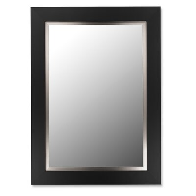 Super Nuevo Mirror with Stainless Liner in Satin Black