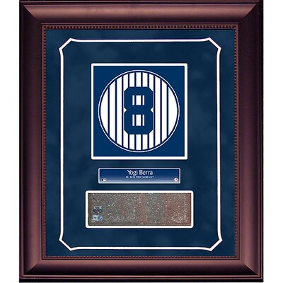 Steiner Sports Yogi Berra Retired Number Monument Park Brick Slice 14x18 Framed Collage with Nameplate