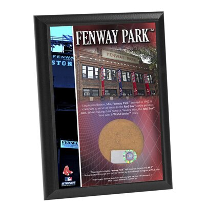 "Steiner Sports Fenway Park 4"" x 6"" Game Used Dirt Plaque"