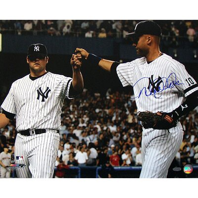 Steiner Sports Derek Jeter Autographed with Joba Chamberlain Single Signed Photograph