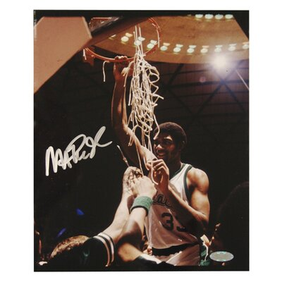 Steiner Sports Magic Johnson Michigan State Cutting the Net Vertical Photo