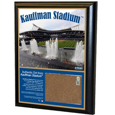 "Steiner Sports Kauffman Stadium 8"" Game Used Dirt Plaque"