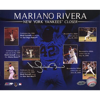 Steiner Sports Mariano Rivera Career Saves Timeline Collage Autographed