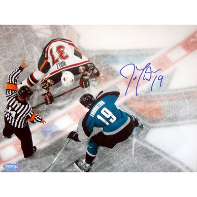 Steiner Sports Joe Thornton Overhead Face-Off Autographed Photograph