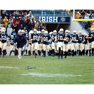 Steiner Sports Charlie Weis Walking with Team On The Field Autographed Photograph