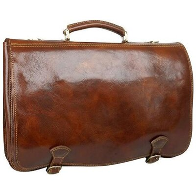 Alberto Bellucci Verona Florence Briefcase in Brown