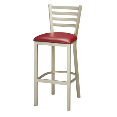 "Regal Steel Ladder Back 30"" Metal Barstool"