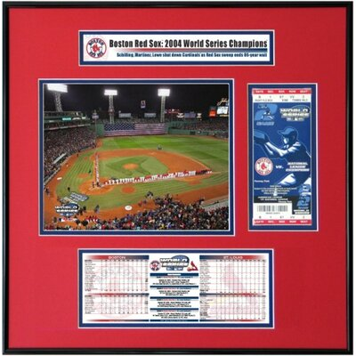That's My Ticket MLB 2004 World Series Ticket Frame Jr. - Game 1 Opening Ceremony - Fenway Park - Boston Red Sox