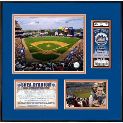 That's My Ticket MLB That's My Ticket Shea Stadium Ticket Frame (Horizontal) - New York Mets