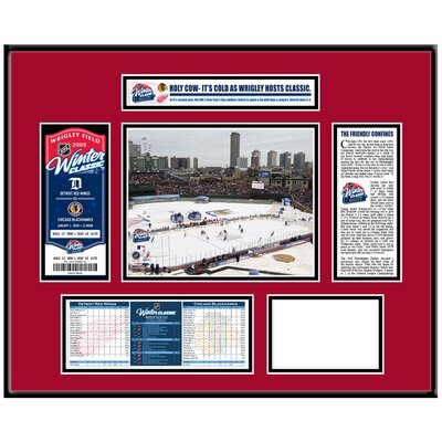 That's My Ticket NHL Winter Classic Ticket Frame - Wrigley Field - Chicago Blackhawks
