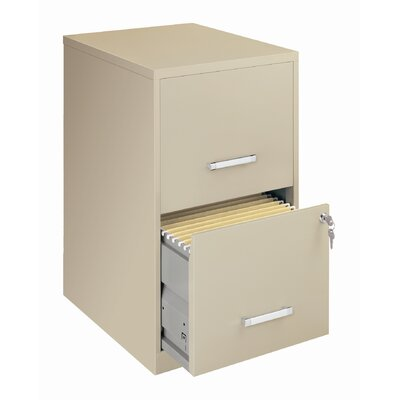 "CommClad Home Office 18"" Deep 2 Drawer Vertical Smart File Cabinet"