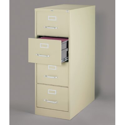 "CommClad 26.5"" Deep Commercial 4 Drawer Legal Size High Side Vertical File Cabinet"