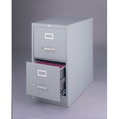 "CommClad 25"" Deep Commercial 2 Drawer Letter Size High Side Vertical File Cabinet"