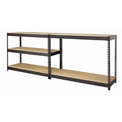"CommClad Iron Horse Rivet 72"" H x 48"" W Five Shelf Shelving Unit"