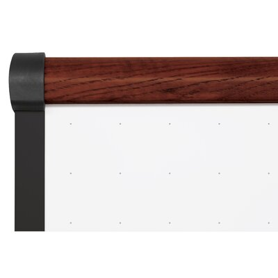 "CommClad 48"" x 96"" Thermal-Fused Melamine Dot Grid Whiteboard with Trim"