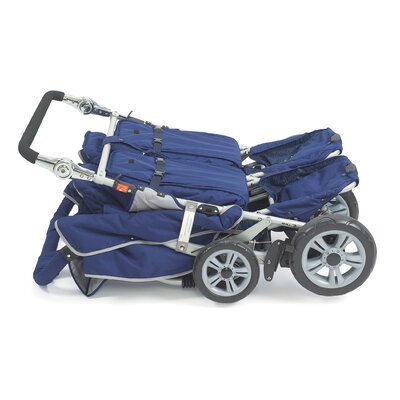 Angeles SureStop Folding Commercial Bye-Bye 4-Passenger Tandem Stroller