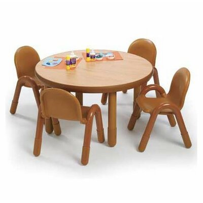 Round baseline preschool table and chair set in natural wayfair