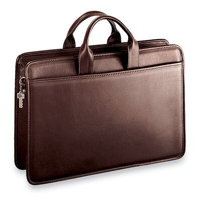 Jack Georges Platinum Single Gusset Zip Top Briefcase